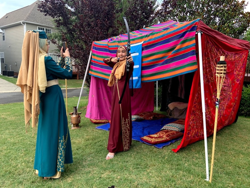 Ertugrul-themed party DIY Kayi Tent, Halime Costume